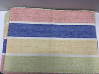 Pier 1 Imports Placemats Multicolor Pastels Horizontal Stripes Set Of 11