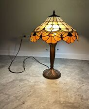 """Tiffany Style Accent Table Lamp 23"""" Brown, Stained Glass for Office Desk,Bedroom"""