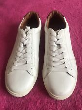 Leather Lace Up Trainers Next Uk 8 Eu 42 White