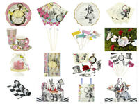 Alice In Wonderland Mad Hatter Girls Birthday Tea Party Cups Plates Napkins Loot
