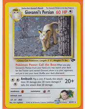 Pokemon 1 x GIOVANNI'S PERSIAN  # 8/132 Holo Foil Gym Challenge Never Played