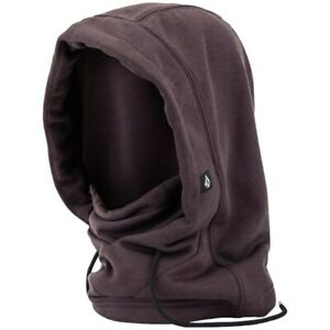 2021 NWT WOMEN'S VOLCOM DANG POLARTEC HOOD $45 OS Black Red drawcord hood