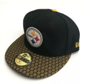 Pittsburgh Steelers New Era 59Fifty Fitted NFL Hat Cap Size 7 1/2 Fast Ship
