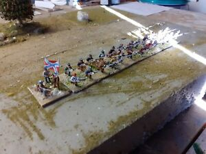 15 mm ACW confederate infantry, 1 unit painted and based as seen
