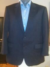 Brooks Brothers 1818 Madison 2 Button 100% Wool Grey Pinstripe Sport Coat 44S