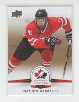 (66066) 2014-15 UPPER DECK TEAM CANADA JUNIORS MATHEW BARZAL GOLD #23