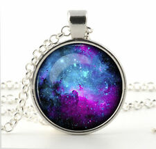 Galaxy Space Art for Women New Nebula Pendant Necklace Chain Hot Fashion Jewelry