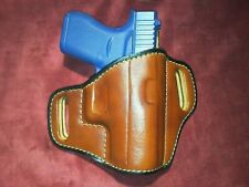 Fits Glock 43 Leather SUEDE Lined OWB Holster