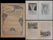 L'ART DECORATIF OCTOBRE 1900- MUCHA, METRO PARIS GUIMARD, BIJOUX GEORGES FOUQUET