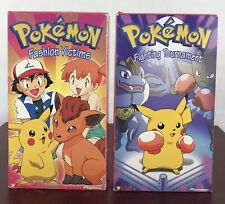 Pokemon Fighting Tournament And Fashion Victims VHS / Lot Of 2