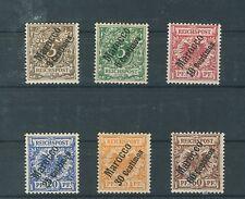 Deutsche Post in Marokko 1-6 kompletter Satz ungebraucht (B00568)