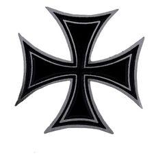 Pin's Biker épinglette Croix de Malte Noir moto - Black Iron Cross- Cruz  Malta