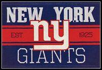 NEW YORK GIANTS VINTAGE TEAM LOGO FOOTBALL NFL DECAL STICKER~BOGO 25% OFF