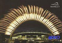 WEMBLEY STADION + London + Postkarte Sammler + NEU Außenaufnahme Feuerwerk (2)