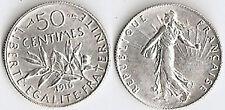 50 CTS ARGENT 1916 SEMEUSE  ÉTAT VOIR PHOTO ET DESCRIPTIF