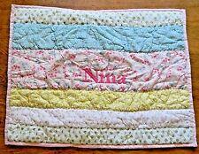 Pottery Barn Kids Pillow Sham Personalized Monogrammed - Nina