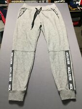 Women's Hollister By Abercrombie Cuffed Sweatpants Sz XS Gray Spell Out RARE EUC