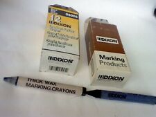 More details for 24 x dixons waterproof vintage american thick wax marking crayon-black/blue  usa