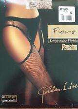 Fiore Passion Straps Strumpfhose Netz tan - nude - hautfarben