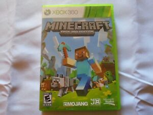 Minecraft Xbox 360 Edition Case + Artwork Only (No Game) Good Condition