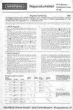 Grundig Service Manual für RT 40
