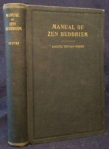 RARE D.T. Daisetz Teitaro Suzuki Manual of Zen Buddhism 1935 HC 1st ed VG cond
