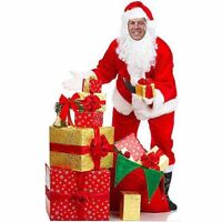Santa Claus Figure Photo Op Large Cardboard Standee Christmas Decoration Accent