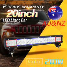 "20"" Inch 210W CREE LED Light Bar Spot Flood Combo Work Driving Off Road 4WD AU"
