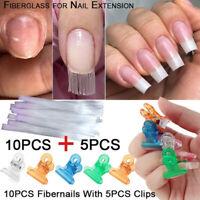 10X claire Fibernails en fibre de verre ongles Extension soie + 5X encapsule aa