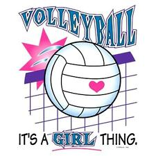 """VOLLEYBALL-""""Its a Girl Thing""""on 16 inch Fabric Panel to Sew.Pic is 8"""" x9"""" - SALE"""