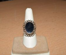 Unique 14K Yellow Gold and Onyx Ring BEAUTIFUL!