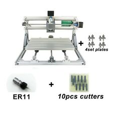 Mini DIY CNC 3018+ Router Kit PCB Milling Engraving Machine+5500mW Laser+ER11
