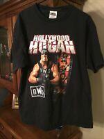 Vintage 90s Hulk Hogan Shirt NWO Wrestling Tee Size XL Hollywood WCW WWF WWE