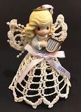 "2004 Precious Moments Crochet & Starched Angel Ornament 4-1/2"""