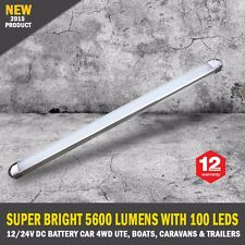 NEW 50cm 12/24V DC Diffused 100 LED Strip Light Bar Camping Caravan Boat Trailer