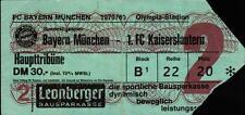 Ticket BL 79/80 FC Bayern München - 1. FC Kaiserslautern