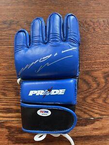 Anderson Silva Signed Ouano Pride FC Glove - PSADNA Certified
