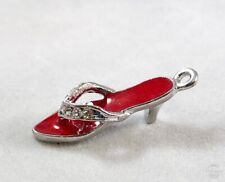 Wholesale Lot of 20 Red High Heel w/Rhinestone Charms