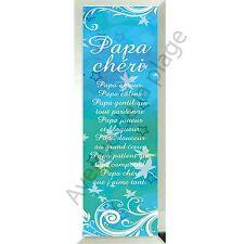 """Miroir message """"Papa Chéri"""" à poser ou accrocher en verre idée cadeau Père neuf"""