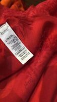 Authentic Authentic Authentic Burberry Modal Silk Red Color Awesome Scarf NWT