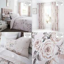 Catherine Lansfield Floral Glitter Duvet Set Reversible Bedding Curtain Sheet