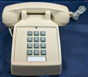 CORTELCO Retro Push Button Corded Desk Phone Telephone,. CREAM, MINT! VINTAGE