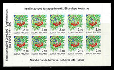 FINLAND. Provincial Flowers. Booklet of 10. 1991, Scott 839a. MNH (BI#52)