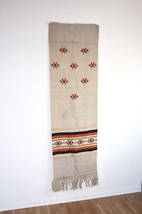 Vintage Tapestry Wall Hanging Wool rug Handmade, Scandinavian Interiors