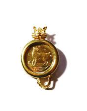 24K 1994 Isle of Man 1/25 oz Gold Japanese Bobtail Cat Pendant Charm