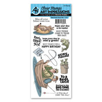 Art Impressions Reel Great Guys Clear Acrylic Stamp Set 4900 NEW!