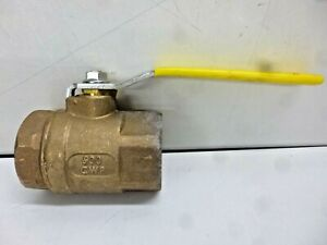 "NEW APOLLO 2"" FNPT BRONZE BALL VALVE INLINE 2-PIECE, 7010801"