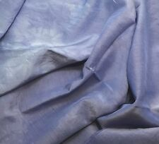 "Periwinkle Blue - Hand Dyed Silk/ Cotton Habotai Fabric - 18""x27"""