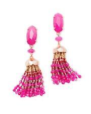 Kendra Scott Dove Gold Statement Earrings in Purple Agate Originally