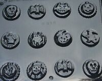 HALLOWEEN ASSORTED ON ROUND BITES CHOCOLATE CANDY MOLD MOLDS CUPCAKE TOPPERS